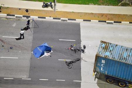Two men on e-bikes killed after trailer hits them