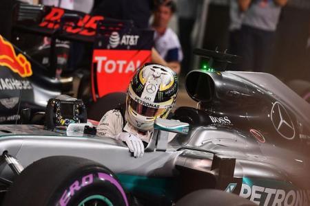 Playful Hamilton on pole, Rosberg gutted