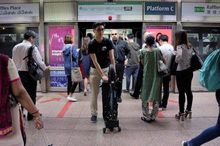 Using e-scooter on trains, buses smooth process