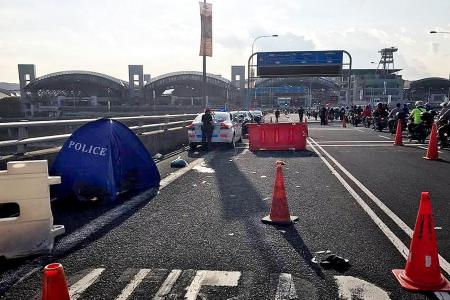 Biker dead, two hurt in Tuas accident