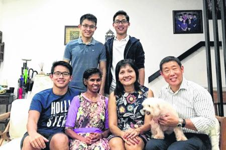 Maid learnt English with employers' help