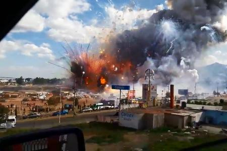 Mexico fireworks explosion death toll now 33, several still missing