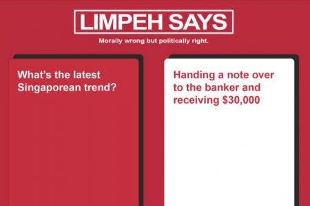 Limpeh Says puts a local spin on popular card game Cards Against Humanity.