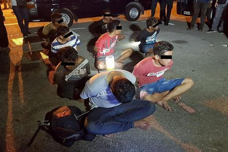 Eight nabbed in blitz
