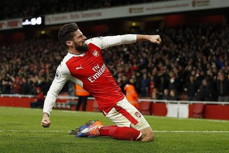 Giroud to Gunners' rescue