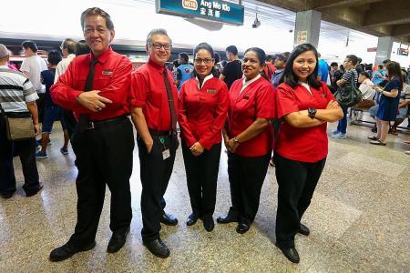 SMRT staff go full steam ahead to help you