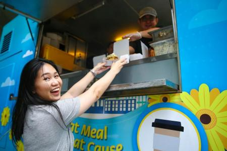 The Kindness On-The-Go food truck by the Singapore Kindness Movement