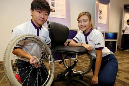 They turn office chair into wheelchair