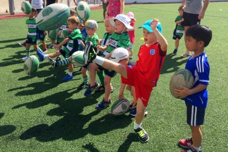 Dragons Rugby club under-5s in action.