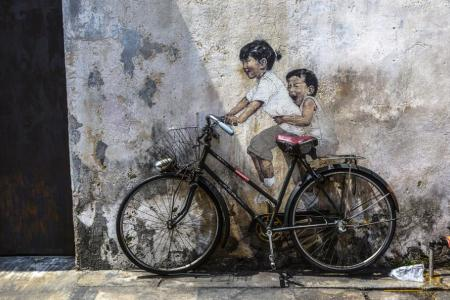 Penang is famed for its street art.