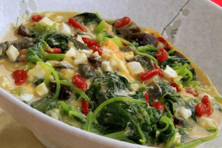 Hed Chef: Trio Egg Spinach for the festive season