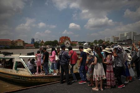 Chinese arrivals in Thailand down