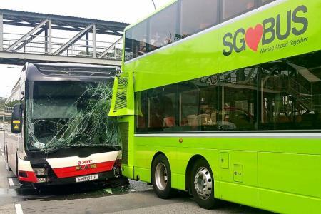 10 injured in Ulu Pandan bus crash
