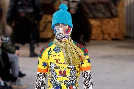 Granny scarves hit Paris catwalk