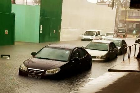 Shops spared but cars affected by knee-high water