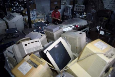 How does electronic waste get recycled?