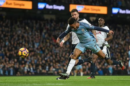Walker admits pushing Sterling, who was through on goal
