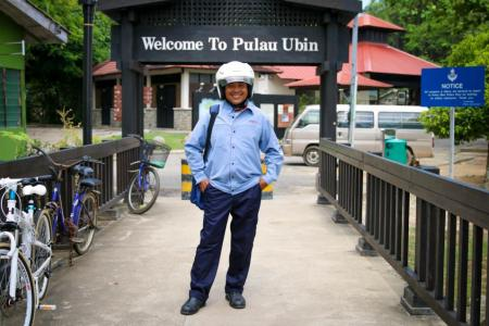 Mr Salleh, the Postman of Pulau Ubin.