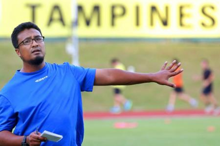 Tampines Rovers' coach Akbar Nawas