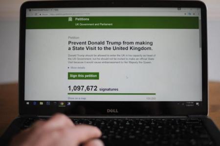 UK petition to cancel Trump's visit passes 1 million signatures