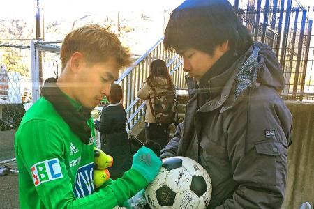 Quak and Shawal a hit with Yamaga fans