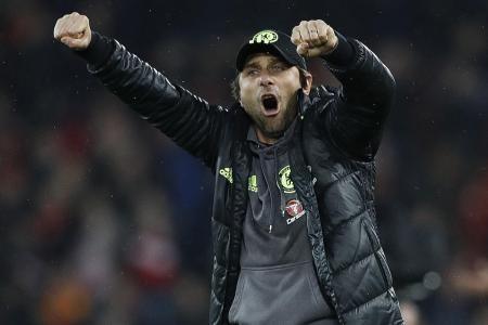 'Conte's Blues unfazed by pressure'