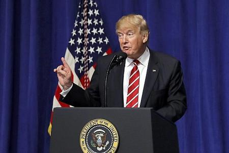 Trump vows to defeat terrorists, keep them out of US