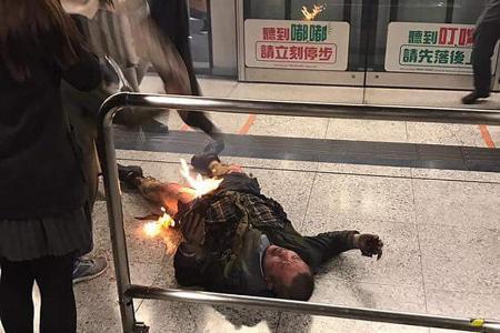 15 hurt in Hong Kong train attack