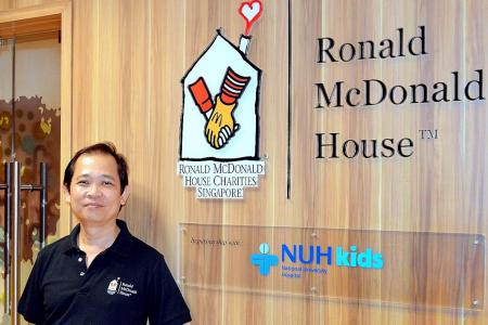 He helps families of sick children feel at home