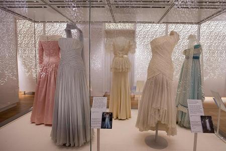 Princess Diana's outfits on display