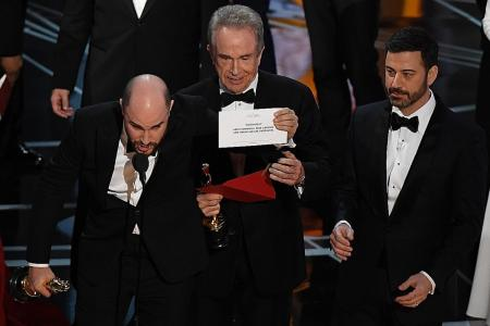 Jaw-dropping Oscar moment
