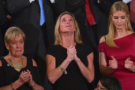 Widow's tears during tribute in US Congress