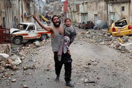 Amid war, misery