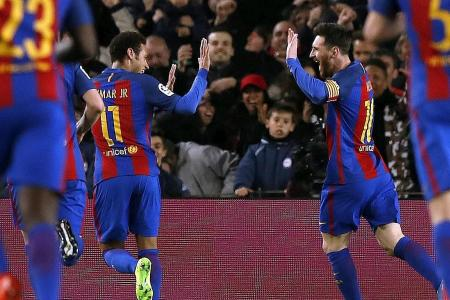 Barca believe in Champions League 'miracle'