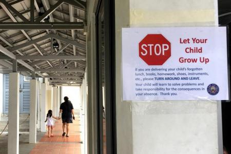 Don't deliver kids' forgotten items, school tells parents