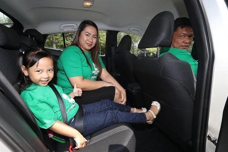 GrabCar, strap kiddo in and Go