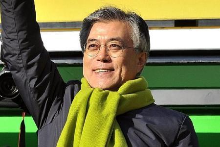 S Korea's presidential front runner calls for unity