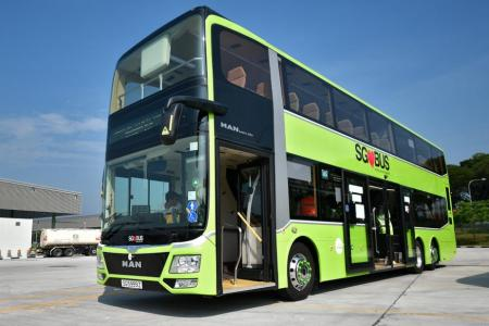 3-door bus hits the road for six-month trial