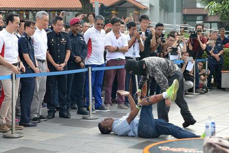 PM Lee: Learn to calm down terror victims