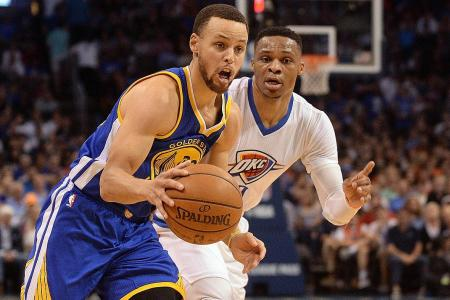 Westbrook and Curry tussle as Warriors win
