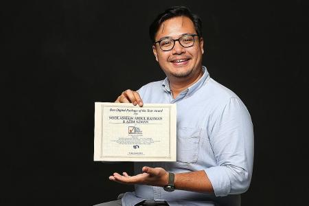 TNP duo win award for series on cabbies