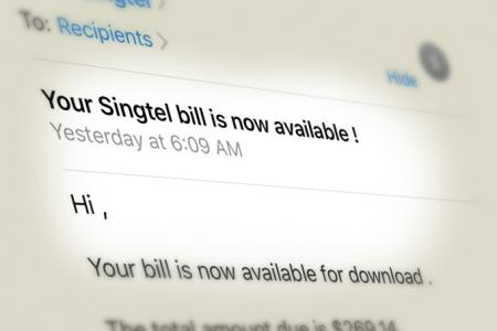 Singtel subscribers hit by phishing e-mail