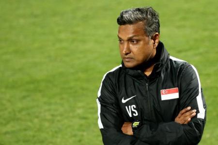 Lions football coach V Sundramoorthy