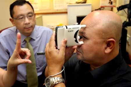 TTSH's glaucoma patients can now test eye pressure at home