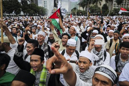 Indonesian police arrest 5 ahead of protest against Jakarta governor