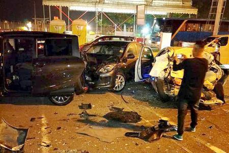 2 taken to hospital after crash