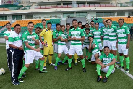 Geylang International squad announcement and sponsorship renewal with Epson at the Jalan Besar Stadium