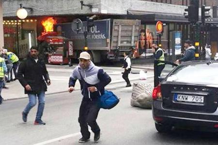 TWITTER/@ADITYARAJKAUL Truck attack terror in Stockholm
