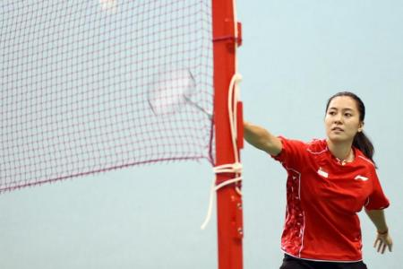 Liang, along with top names, out of OUE Open