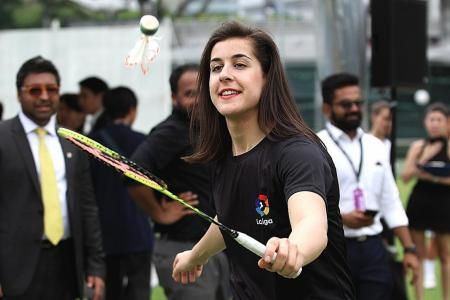 Olympic badminton champion Marin hungry for more
